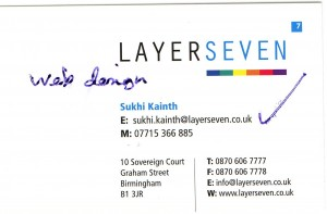 what should be on a business card  example 1